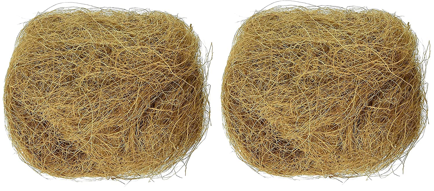 Prevue Pet Products BPV105 Sterilized Natural Coconut Fiber for Bird Nest (2 Pack)