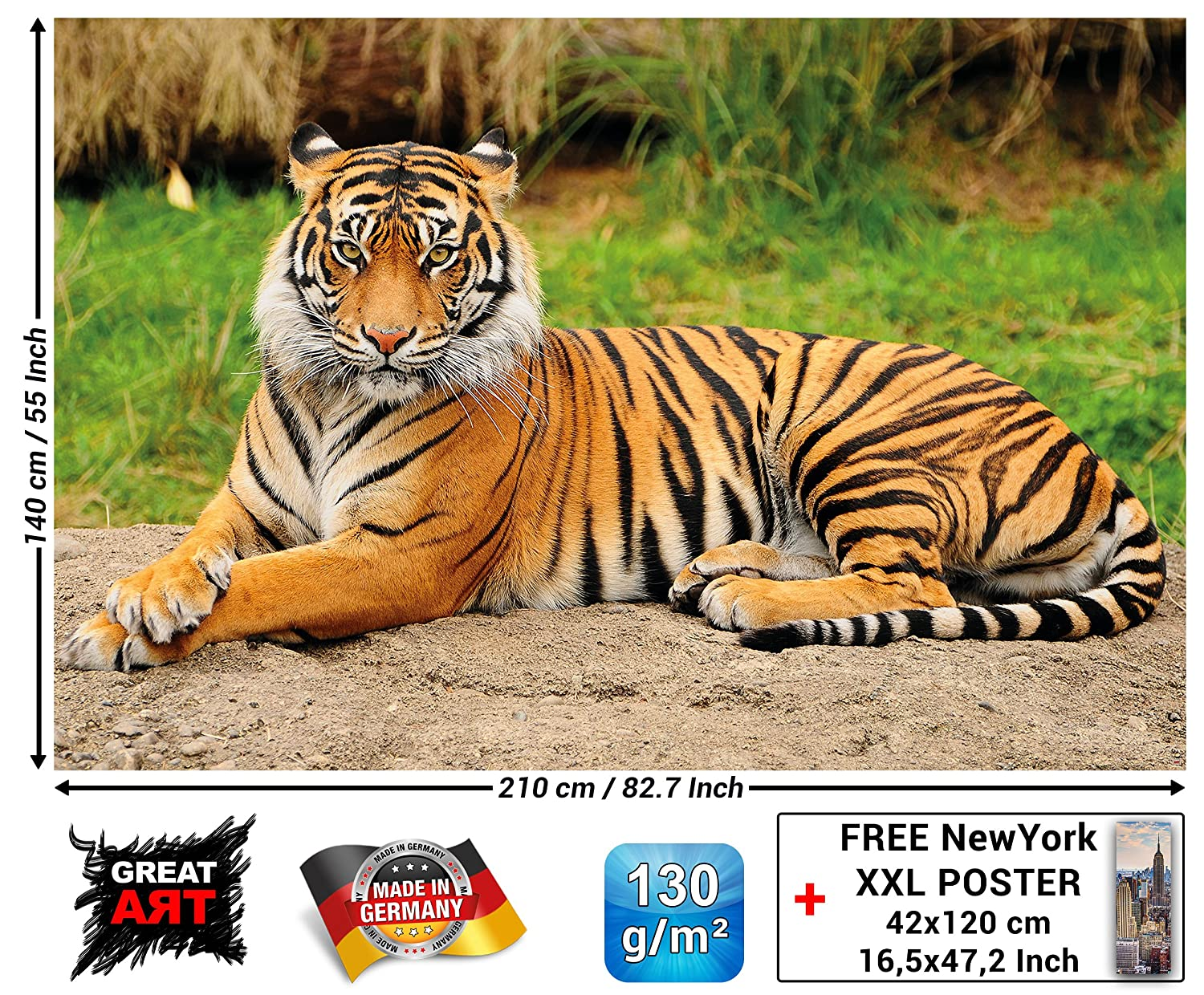 Tiger Photo Wall Paper Majestic Tiger Mural Ideal For Living Room
