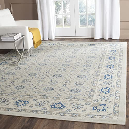 Safavieh Patina Collection PTN328L Light Blue and Ivory Cotton Area Rug 10 x 14