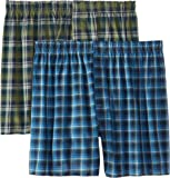 Hanes Men's 2-Pack Inside Exposed Waistband Woven Boxers