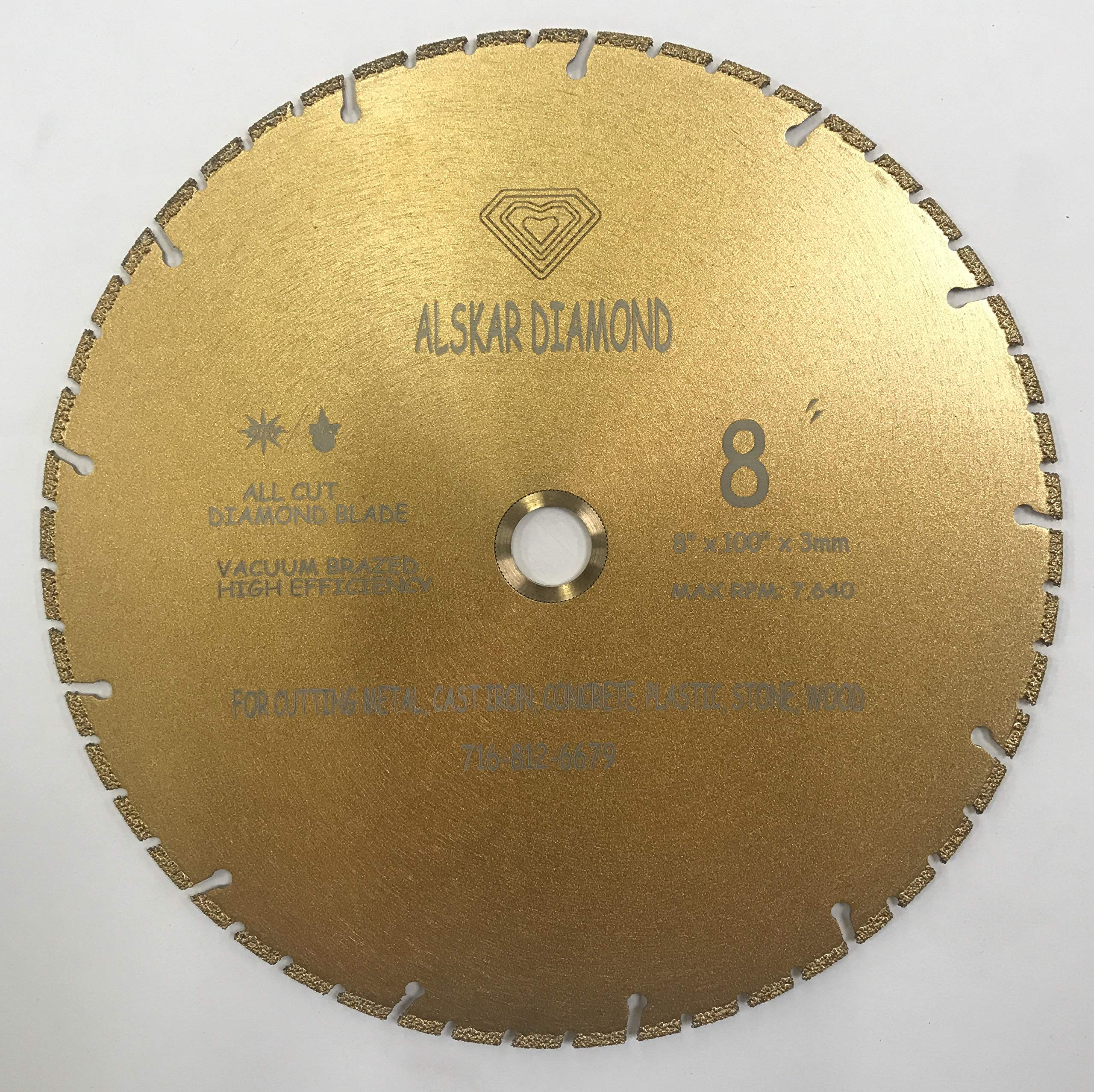 Disco de Diamante ALSKAR ADTVBT - segmentadas para corte de metales de uso múltiple en seco o en húmedo para materiales