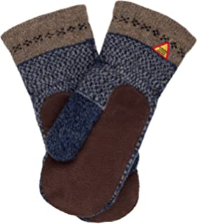 26efa0b4a Öjbro Swedish made 100% Merino Wool Soft Thick & Extremely Warm Suede Palm  Mittens (