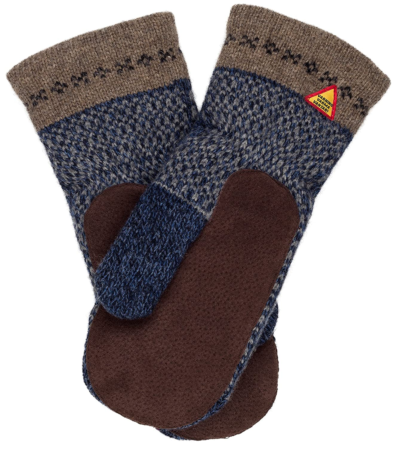 Swedish Dangerously Warm Red Suede Palm Mittens