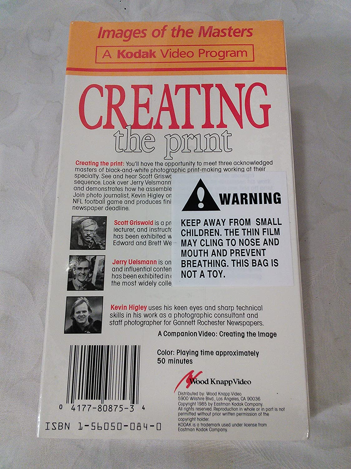 Amazon.com: Images of the Masters: Creating the Print [VHS]: Kodak Video: Movies & TV