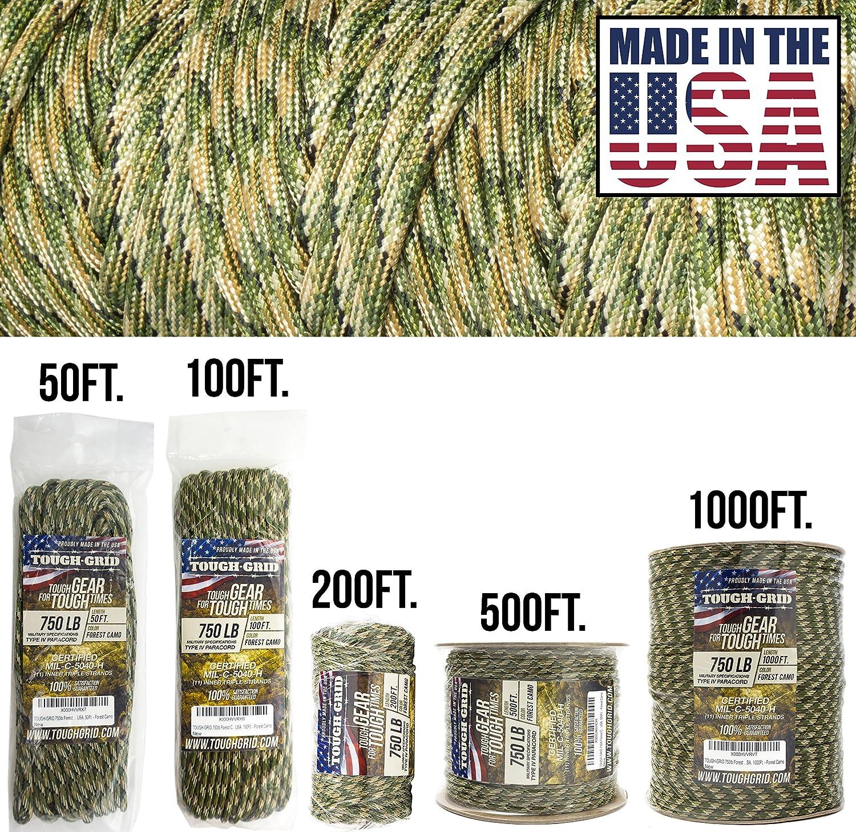 【完売】  tough-grid 迷彩(Forest 750lbパラコード/パラシュートコード – 純正MilスペックタイプIV – 750lbパラコード使用by the US ON Military (mil-c-5040-h) – 100 %ナイロン – Made in the USA。 B00F9GIS4K フォレスト 迷彩(Forest Camo) 200Ft. (WOUND ON TUBE) 200Ft. (WOUND ON TUBE)|フォレスト 迷彩(Forest Camo), LA BODY:26c0babc --- a0267596.xsph.ru