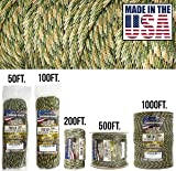 TOUGH-GRID 750lb Forest Camo Paracord/Parachute