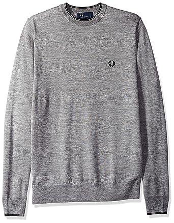 1f57d92e1d66ff Fred Perry Men's Fine Merino Crew Neck Sweater: Amazon.in: Clothing ...