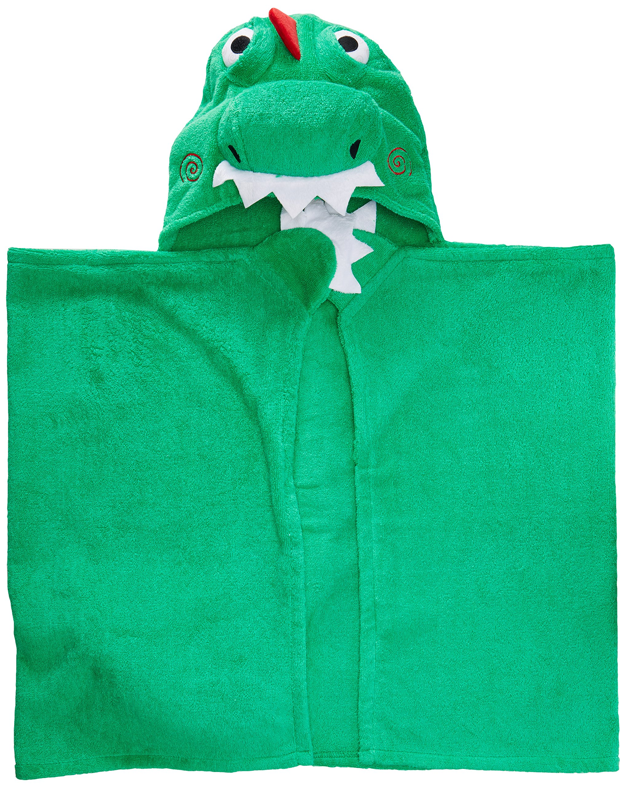 ZOOCCHINI Hooded Towel, 50 inches x 22 inches, 100% Cotton Plush Terry, Toddlers and Kids, Great for Bath, Pool, and Beach! (Dinosaur Green) by ZOOCCHINI