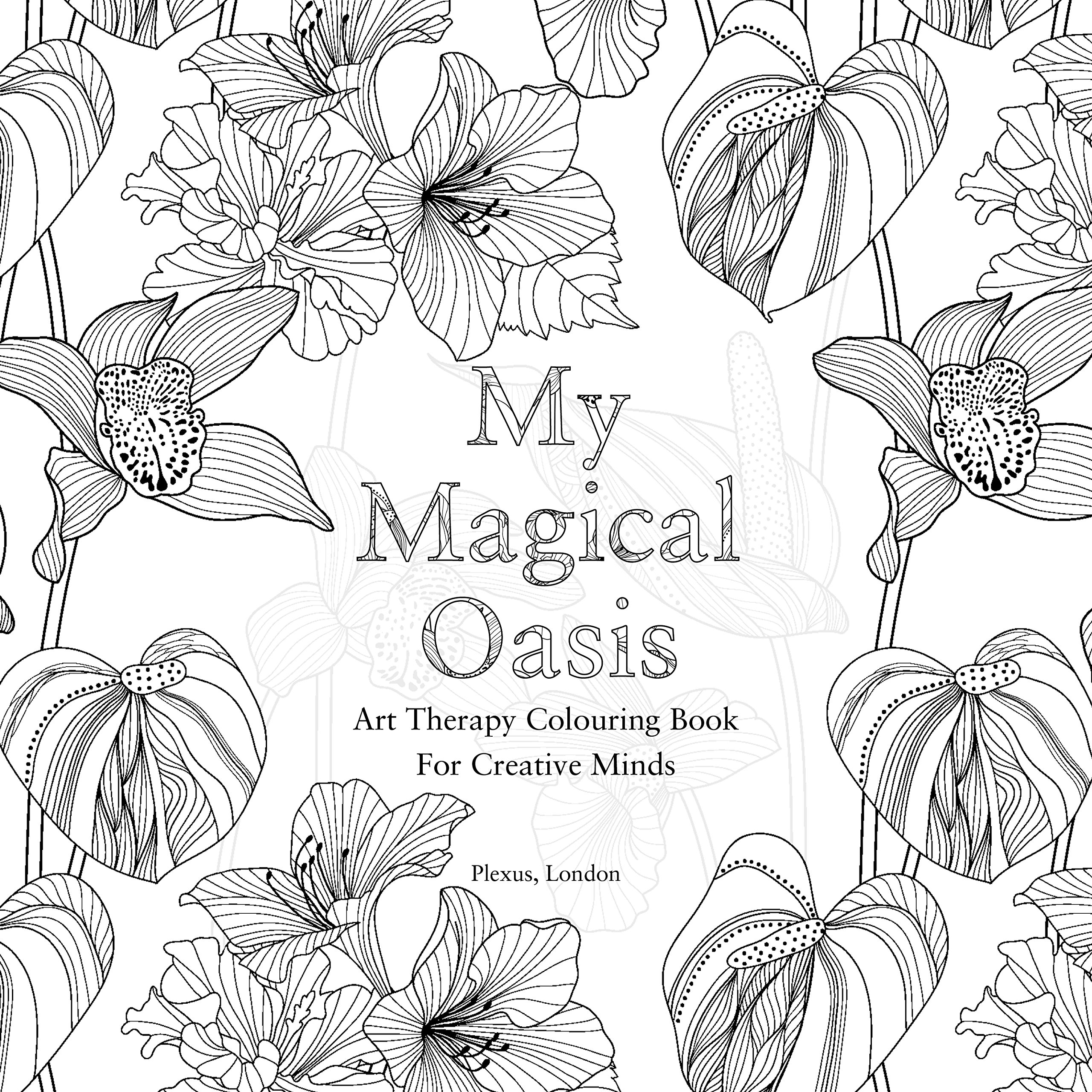 Amazon My Magical Oasis Art Therapy Coloring Book For Creative Minds 9780859655354 Eglantine De La Fontaine Various Books