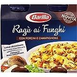 Barilla - Ragù ai Funghi, Con Porcini e Champignons 2 Porzzioni per Barattolo - 2 Barattoli