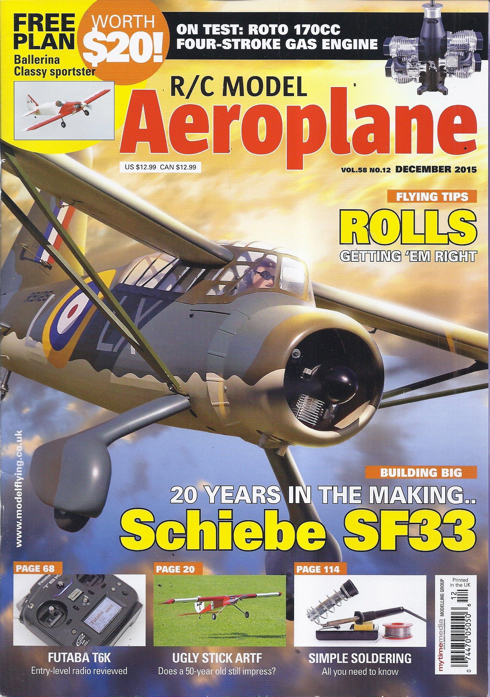 Read Online R/C Model Aeroplane Magazine (December 2015 - Includes Free plan) pdf epub