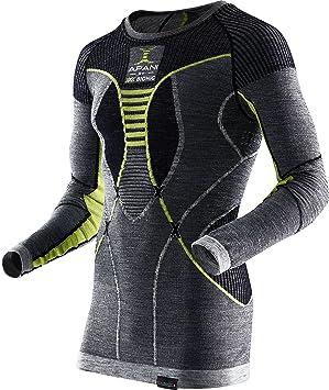 X-Bionic Apani Merino by Man UW Shirt LG_SL. Roundneck Ropa Interior, Hombre: Amazon.es: Deportes y aire libre