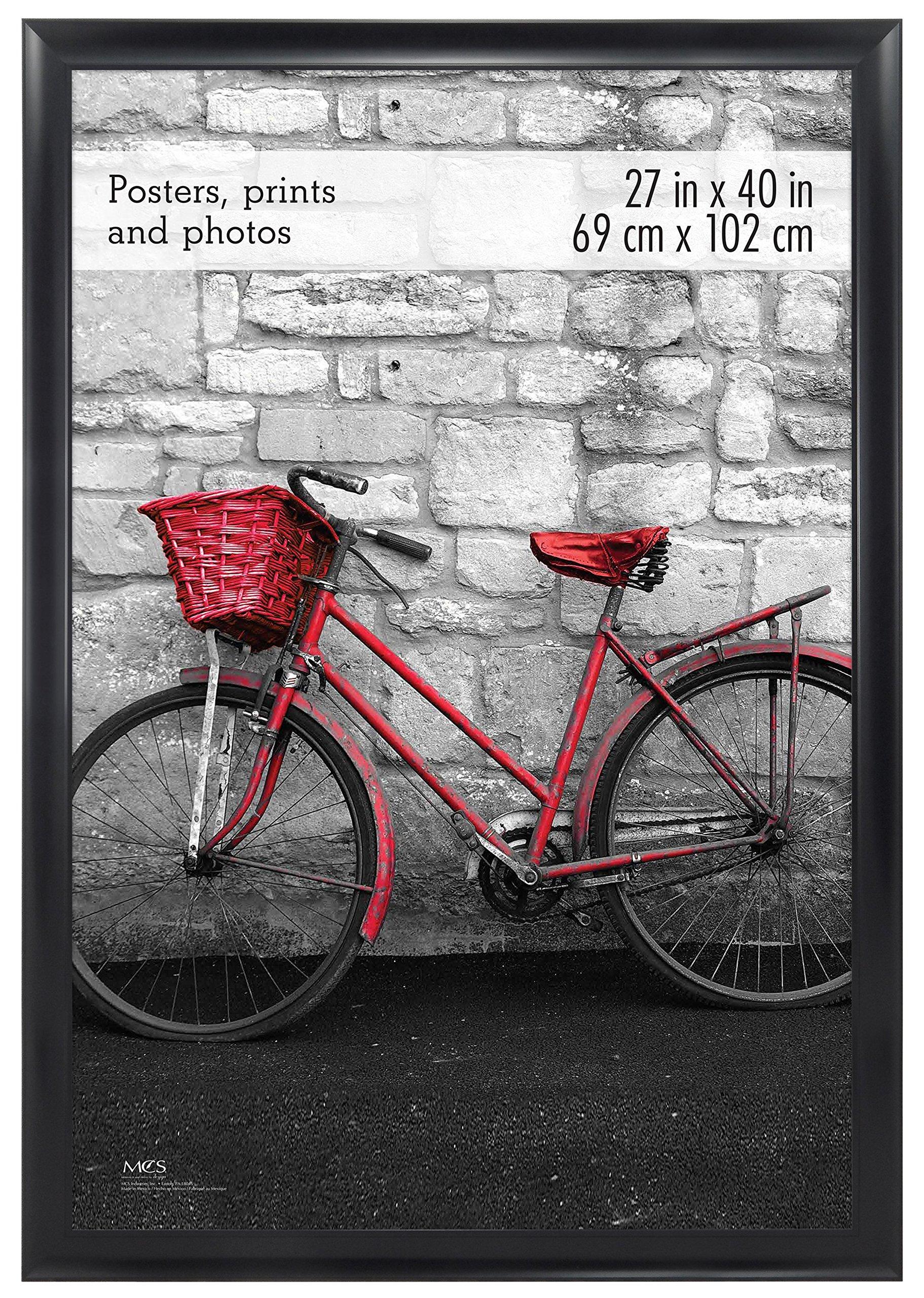 MCS 27x40 Inch Wide Scoop Poster Frame, Black (65696)