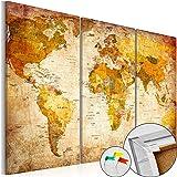 murando - Cuadro - Tablero de corcho 90x60 cm - Cuadro sobre corcho - Mapamundi Mundo Continente - k-B-0020-p-a