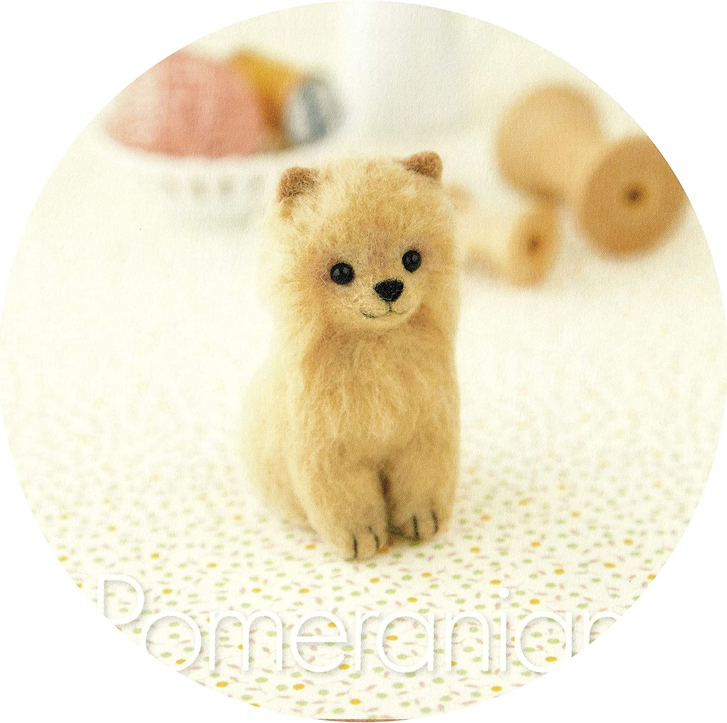 Pomeranian Pomeranian with English Instructions Cool Beans Boutique Wool Felting DIY Kit Imported from Japan WFKit-HM-23Pome