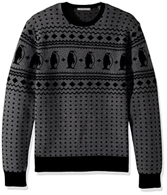 Michael Bastian Men's Long Sleeve Penguin Fairisle Crewneck ...