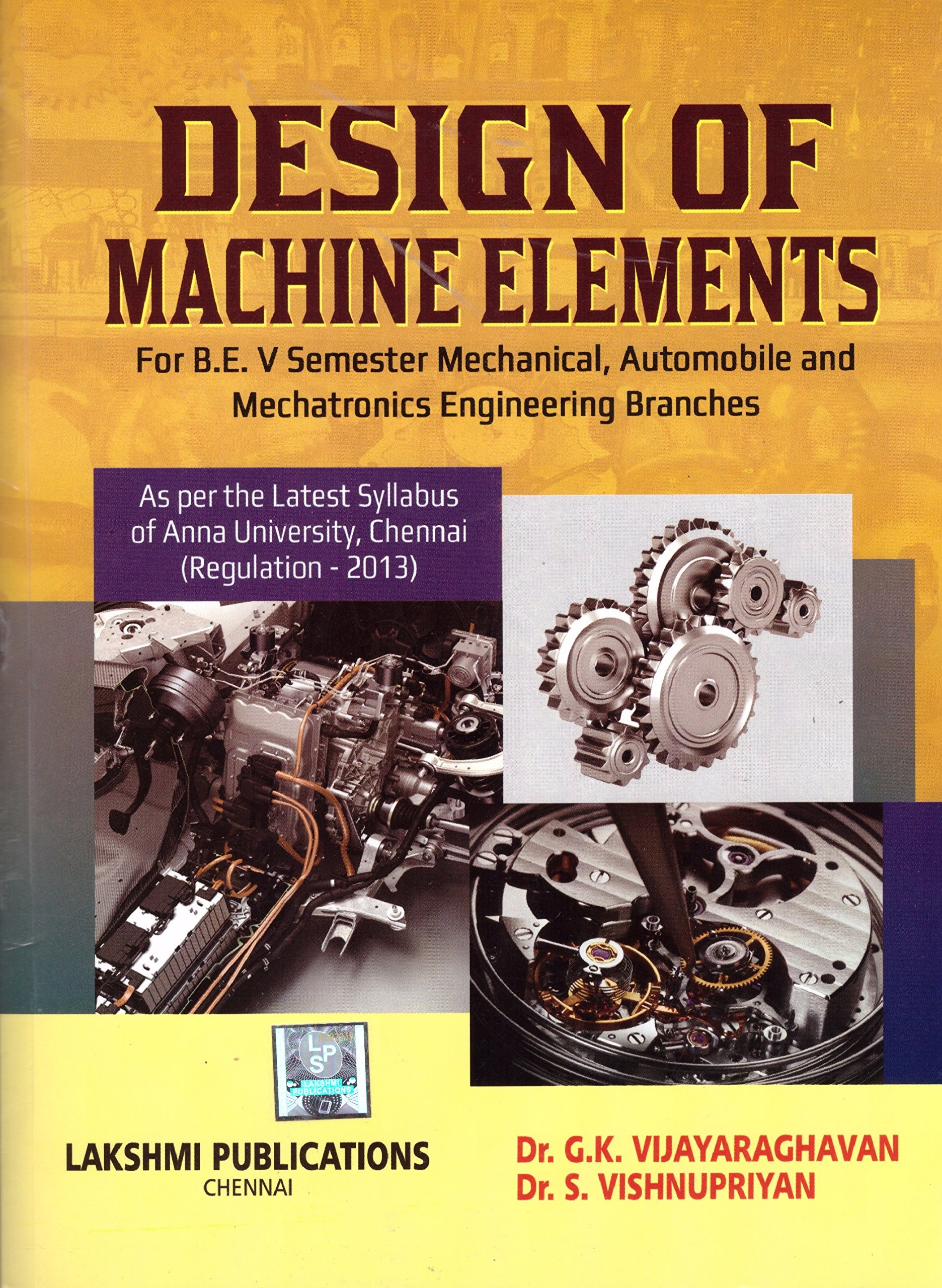 Buy Design Of Machine Elements Book Online at Low Prices in India