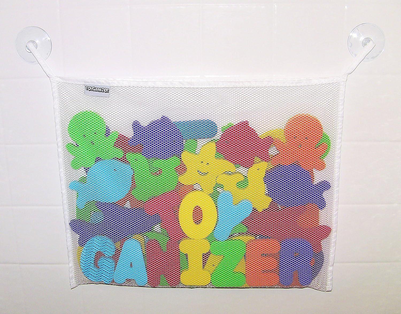 Amazon.com: Toyganizer Bath Toy Organizer + 2 Bonus Strong Hooked ...