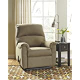 Flash Furniture Signature Design by Ashley Otwell Wall Hugger Recliner in Cocoa Fabric