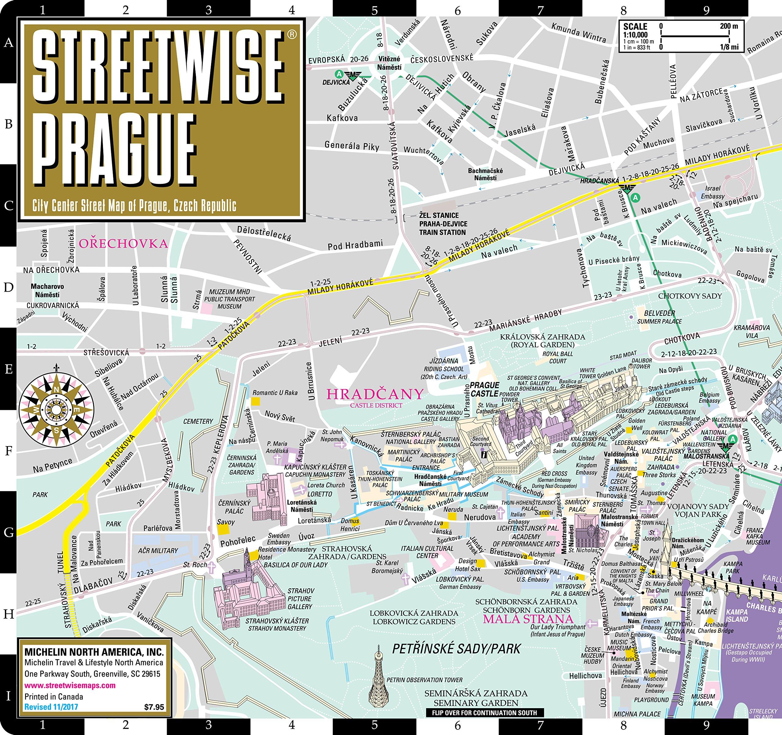 Streetwise Prague Map - Laminated City Center Street Map of Prague ...