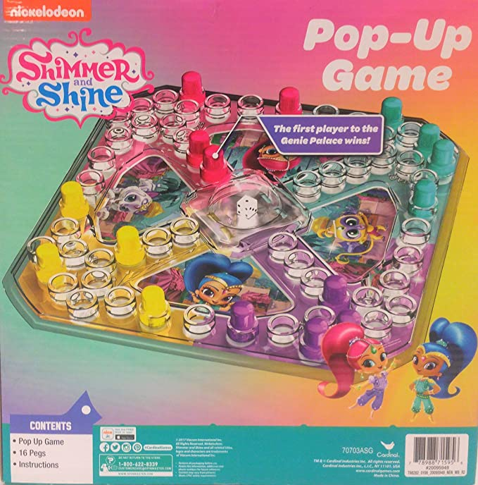 Amazon Classic Trouble Style Pop And Race Game With Shimmer And