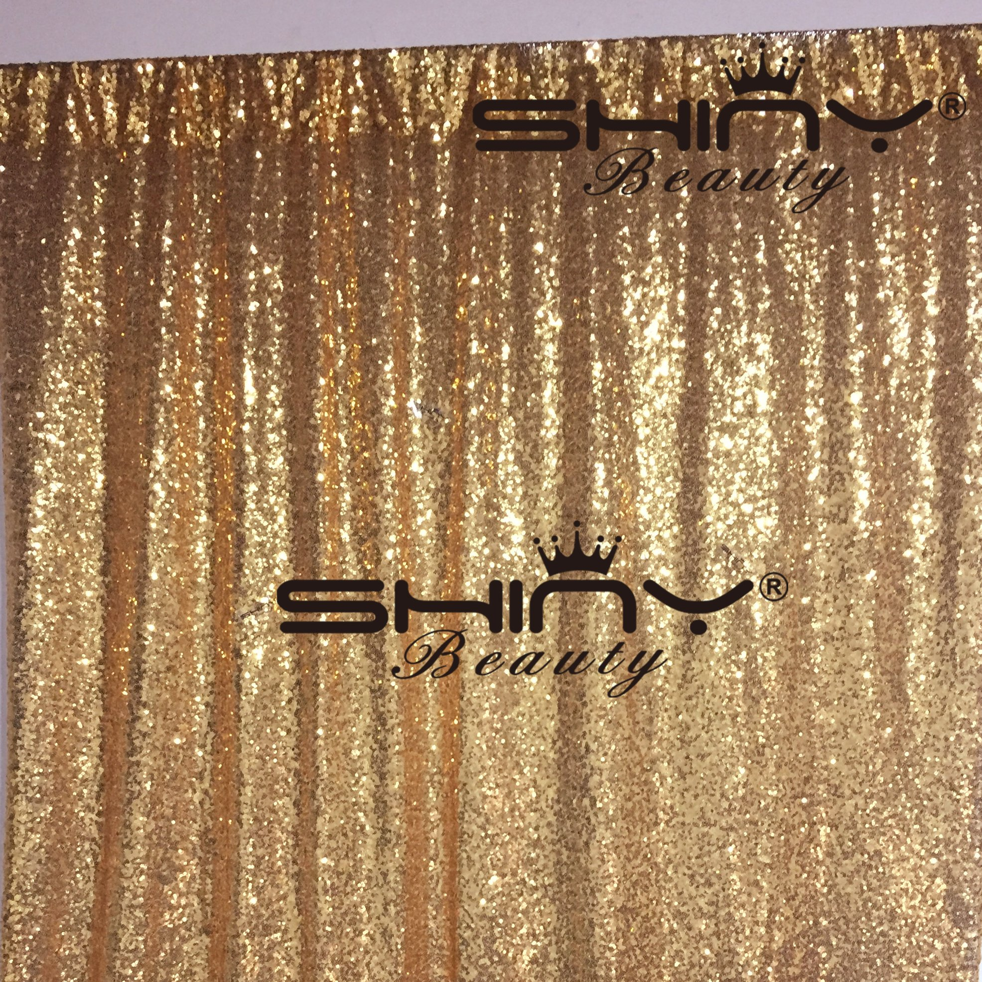 ShinyBeauty Gold-20FTx10FT-Sequin Backdrop Curtain for Your House Decoration.. (Gold)