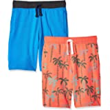 Spotted Zebra Boys 2-Pack French Terry Knit Shorts