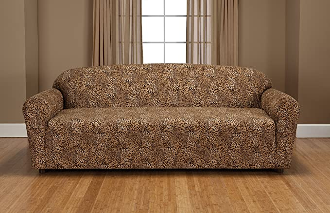 Madison Stretch Jersey Sofa Slipcover, Geometric, Leopard