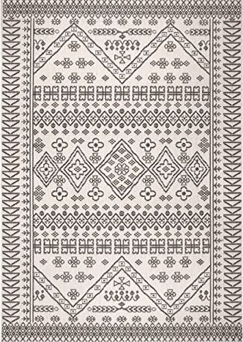 nuLOOM Kandace Tribal Indoor Outdoor Area Rug, 7 6 x 10 9 , Ivory