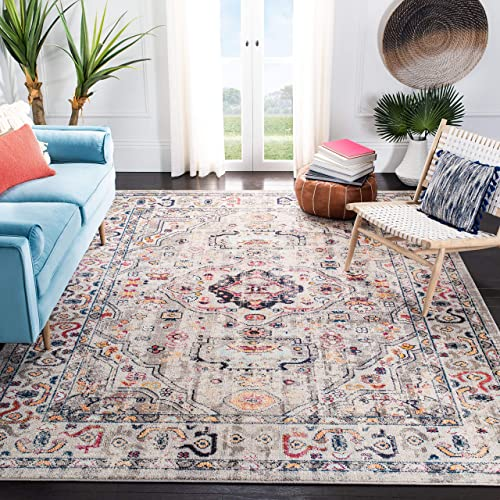 Safavieh MAD468F-8 Madison Collection MAD468F Grey and Blue Area 8' x 10' Rug