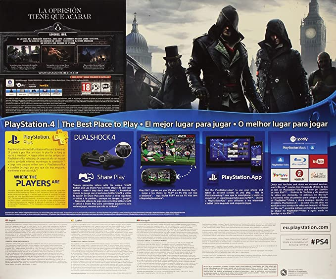 PlayStation 4 - Consola 1 TB + Assassins Creed: Syndicate + Watch Dogs: Amazon.es: Videojuegos