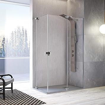 Frente de ducha SULA, Fijo + puerta pivotante 97-112cm: Amazon.es: Bricolaje y herramientas