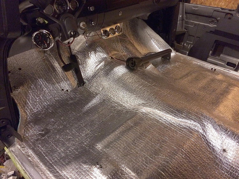 Car Insulation 102 Sqft Automotive Lightweight Thermal Insulation 4 x 25.5 Roll Sound Deadener /& Heat Barrier Mat