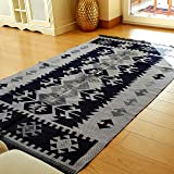 Modern Bohemian Area Rug 5' x 8' ft Black-Grey