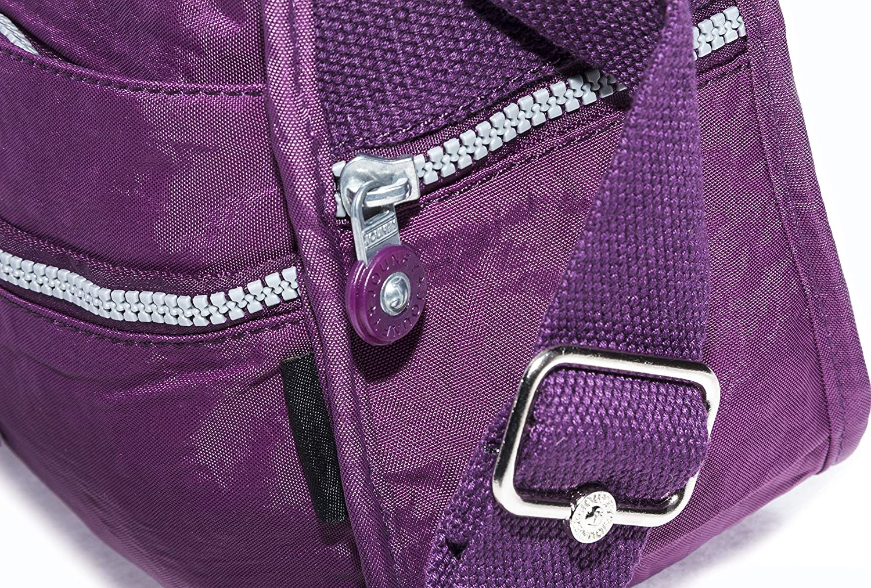 leicht Big Handbag Shop Unisex Stofftasche mit Rei/ßverschluss Schultertasche mit Quertr/äger