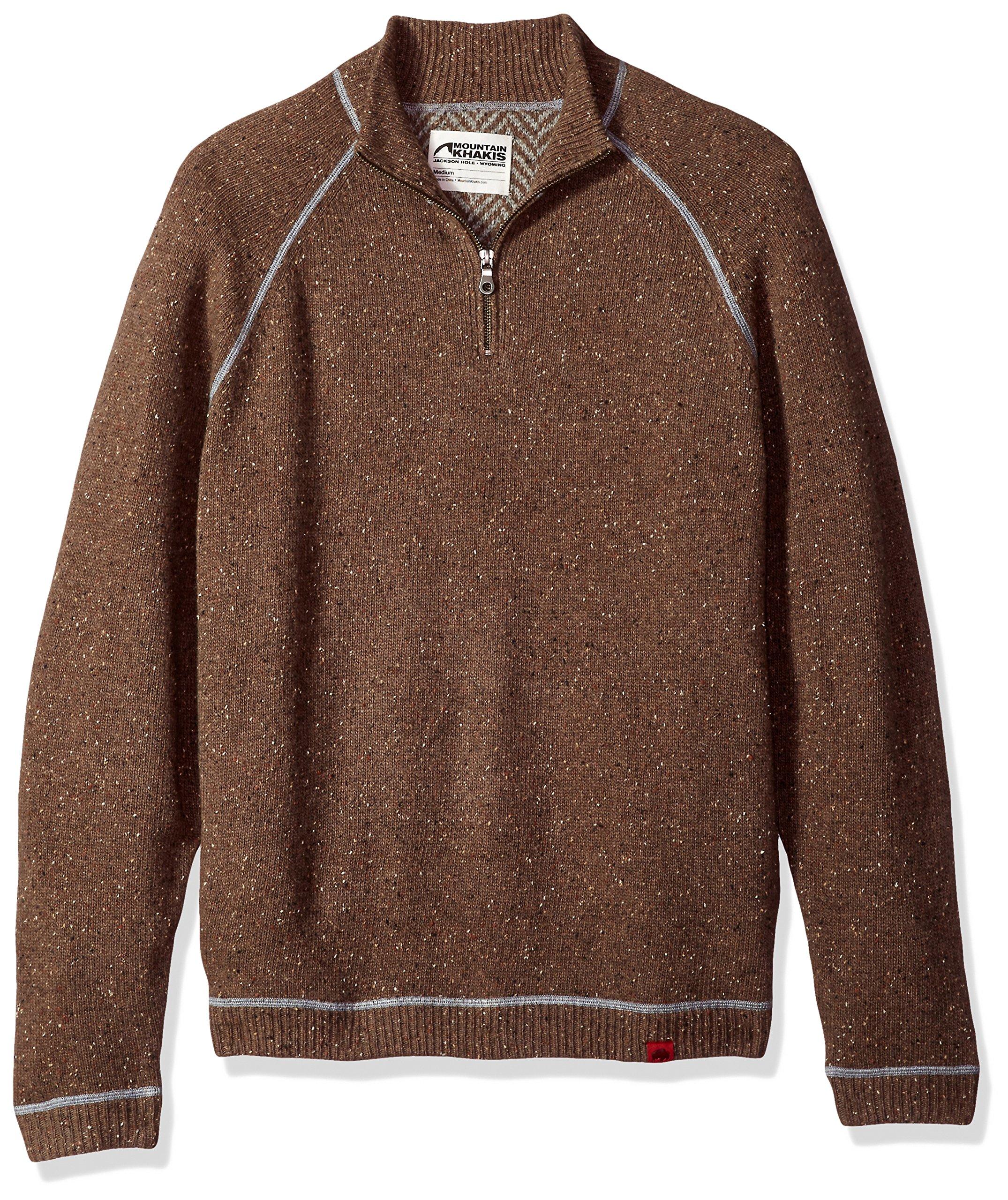 Mountain Khakis Men's Fleck Qtr Zip Sweater, Terra, X-Large
