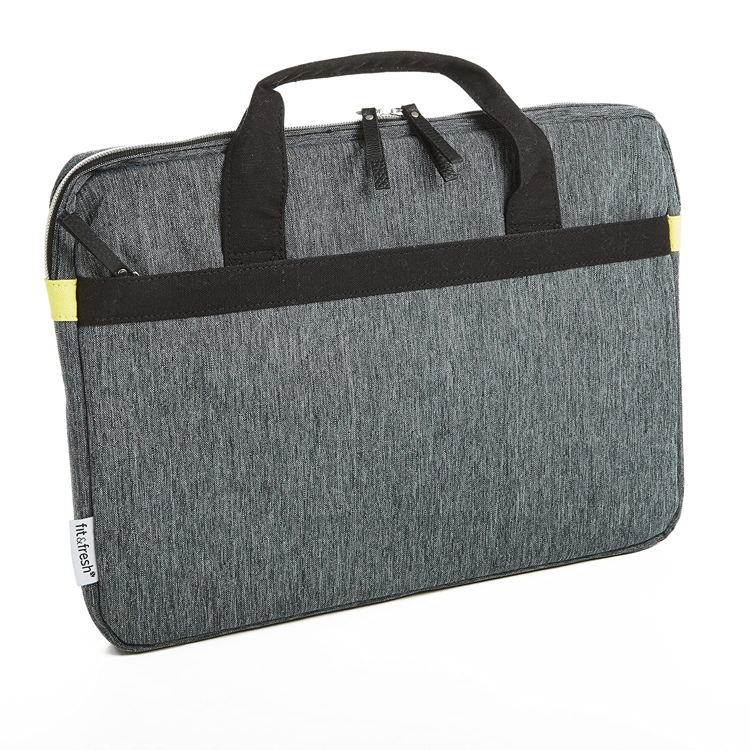 """Fit & Fresh Protective Laptop Case with Handles & Zippered Storage Pocket, fits Apple/Microsoft/Acer/Samsung/Google/Lenovo with up to 15.6"""" Displays, Space Dyed, Gray 60%OFF"""