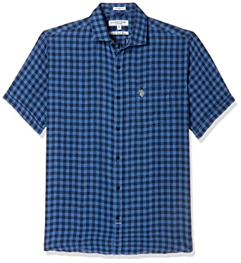 7971080cee0 US Polo Association Men s Checkered Regular Fit Casual Shirt  Amazon.in   Clothing   Accessories