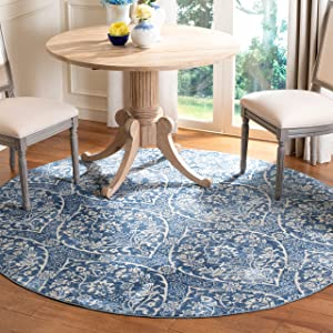 Safavieh Brentwood Collection BNT860M Floral Damask Ogee Trellis Non-Shedding Stain Resistant Living Room Bedroom Area Rug, 6'7