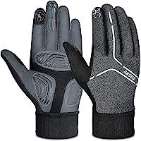 Souke Sports Cycling Bike Gloves Padded Warm Full Finger Bicycle Gloves Shock-Absorbing Anti-Slip MTB Road Biking for…