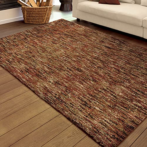 Orian Rugs Super Shag Collection 392203 Multi-Solid Area Rug