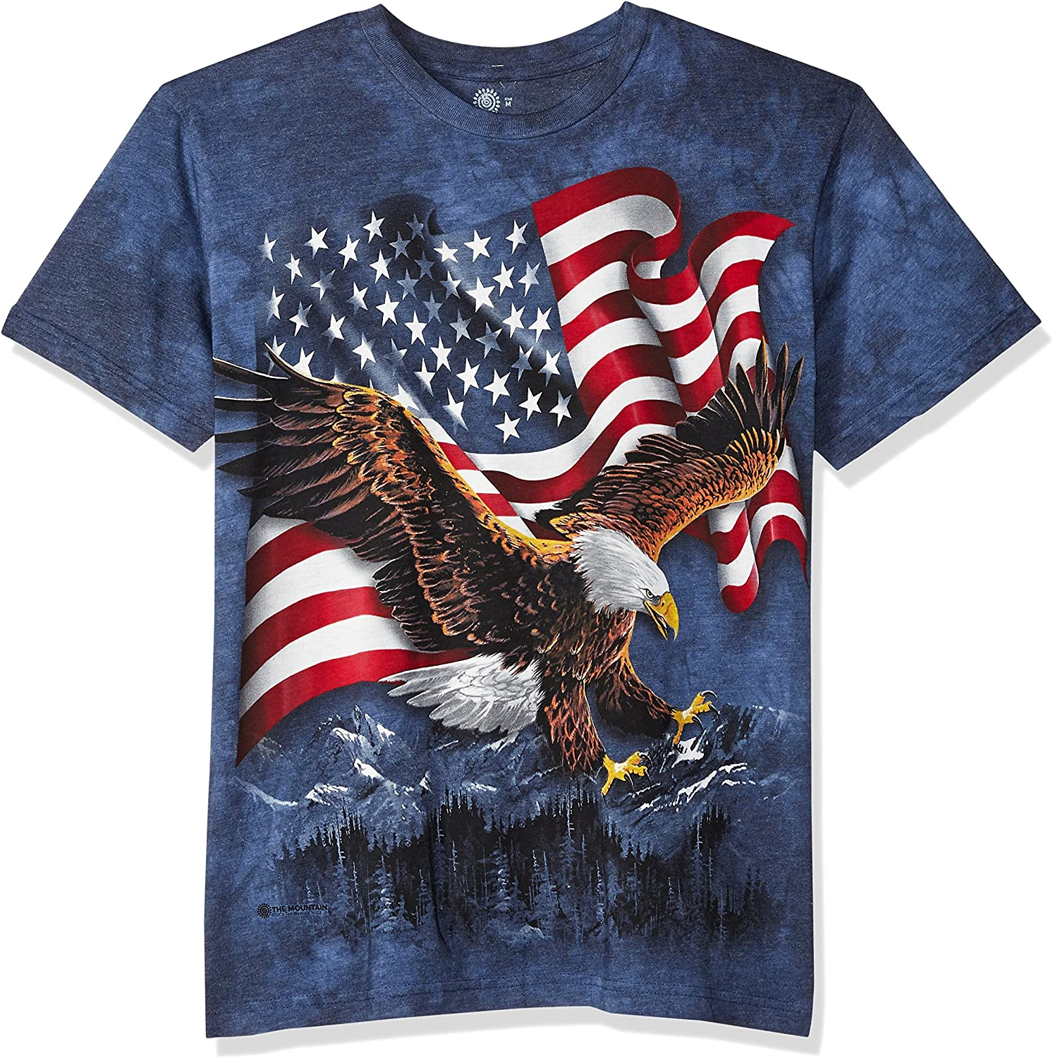 The Mountain Eagle Talon USA Flag Adult Unisex T-Shirt