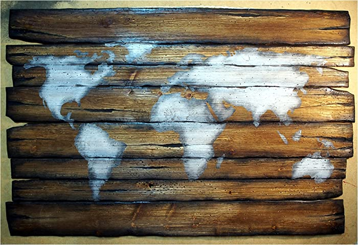 World Map | Rustic Decor | Handmade Worn out Wood Sign ...