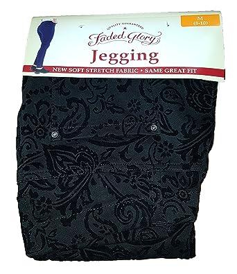 62edca3de2 Faded Glory Black Flock Knit Jegging - X-Small at Amazon Women's ...