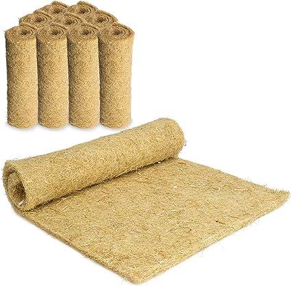 tappetino di canapa per roditori confezione da 2 pezzi 120 x 50 cm 9,25 Euro//pezzo tappetino per roditori spessore 5 mm Tappeto per roditori in 100/% canapa