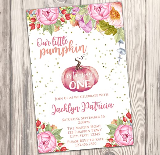 amazon com pumpkin invitation fall invite our little pumpkin