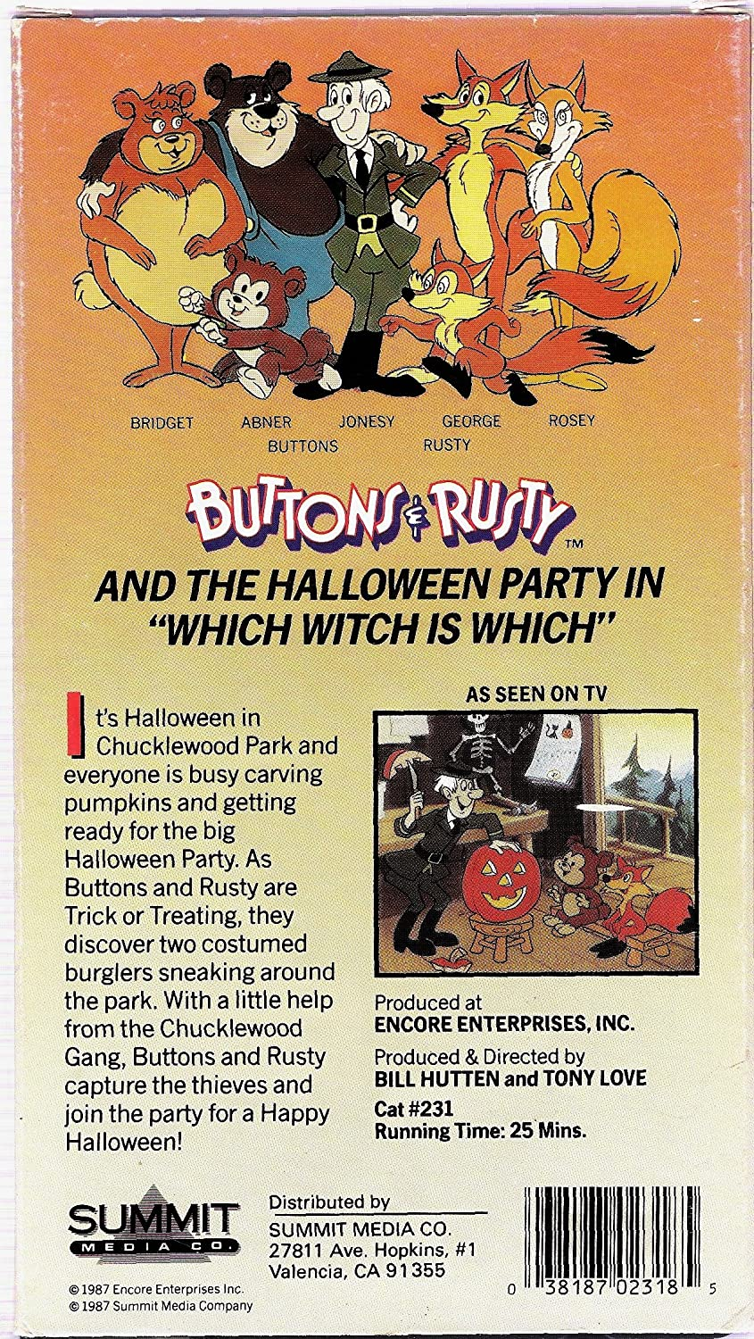 Amazon.com: Buttons & Rusty:Halloween Party [VHS]: Buttons & Rusty ...