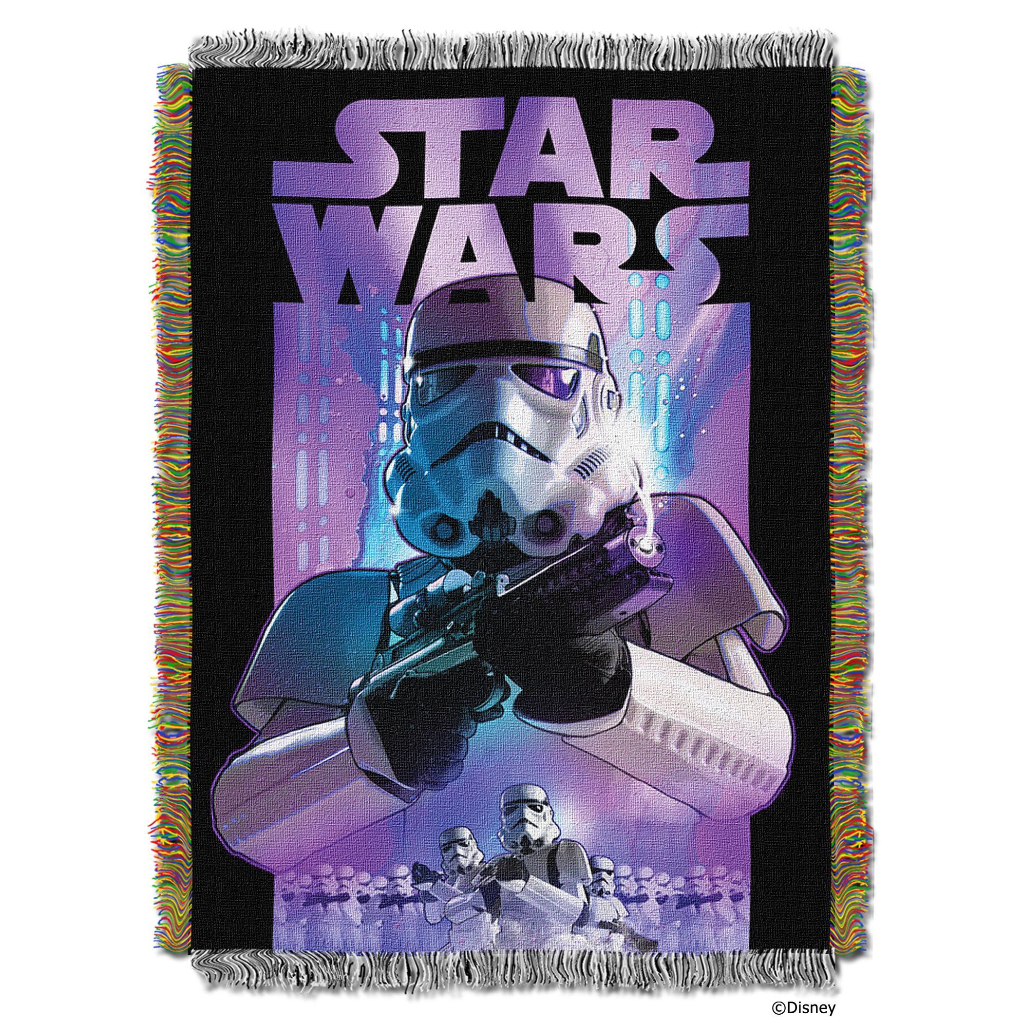 Disney's Star Wars, ''Storm Ahead'' Woven Tapestry Throw Blanket, 48'' x 60'', Multi Color by Star Wars