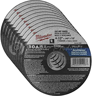 Milwaukee 10 Pack - 4 1 2 Cutting Wheels For Grinders - Aggressive Cutting For Metal
