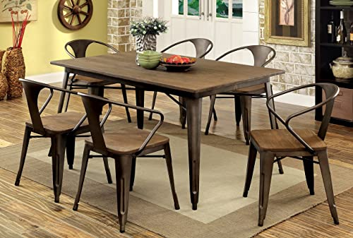 Furniture of America Cadiz 7-Piece Industrial Dining Set